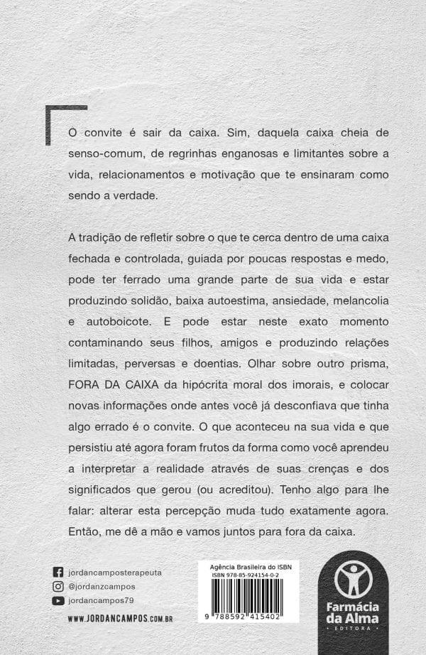 Livro Fora Da Caixa - Contra Capa
