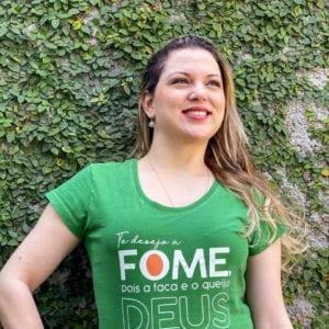 Camisa com Estampa FOME - Feminina Verde
