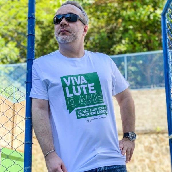 Camisa com Estampa VIVA LUTE - Masculina Branca.